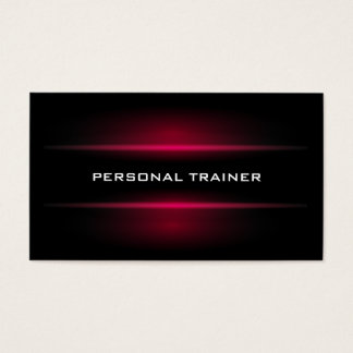 Elegant Personal Trainer Business Card
