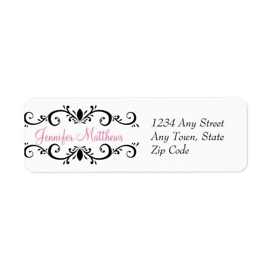 Elegant Personalised Address Labels Swirls