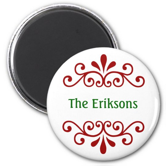 Elegant Personalised Christmas Magnet