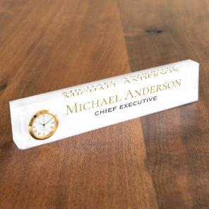 Elegant Personalised Desk NAME Plate Corporate