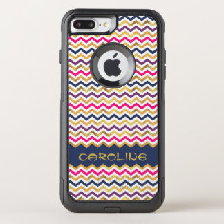 Elegant Personalized Chevron OtterBox Commuter iPhone 8 Plus/7 Plus Case