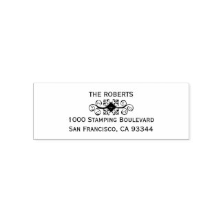 Elegant Personalized Custom Return Name Address Self-inking Stamp