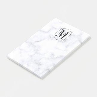 Elegant Personalized Monogram Marble Post-it® Notes