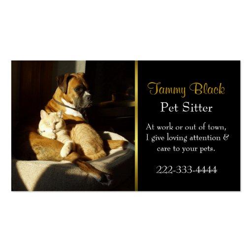 Elegant Pet Care Business Card