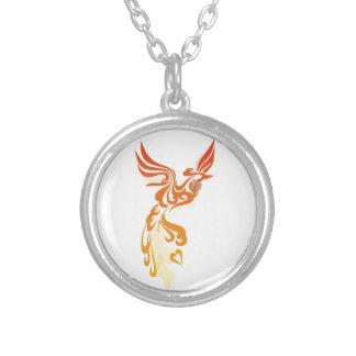 Elegant phoenix silver plated necklace