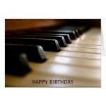 Elegant piano keyboard music birthday greeting card