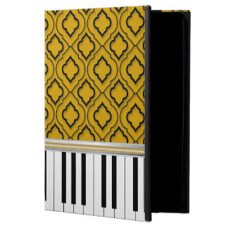 Elegant Piano Keys with Black Quatrefoil on Gold Powis iPad Air 2 Case