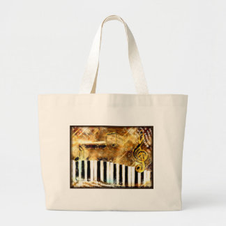Elegant Piano Music & Notes Tote Bags