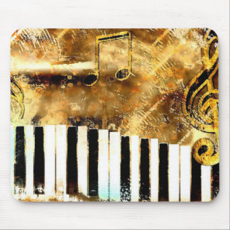 Elegant Piano Music & Notes Mouse Pad