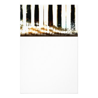 Elegant Piano Music & Notes Personalized Stationery