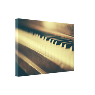 Elegant Piano Wrapped Canvas Print