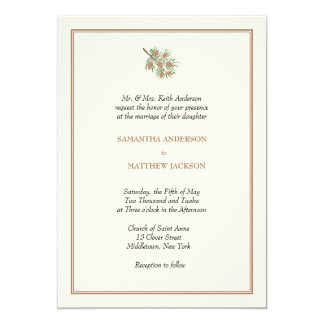 Elegant Pine Cone Wedding Invitation