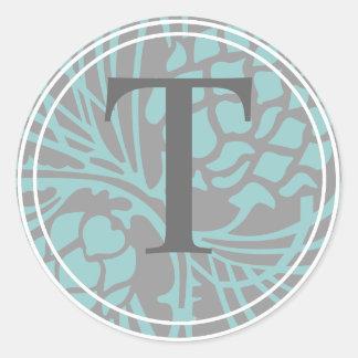 Elegant Pine Monogram Sticker