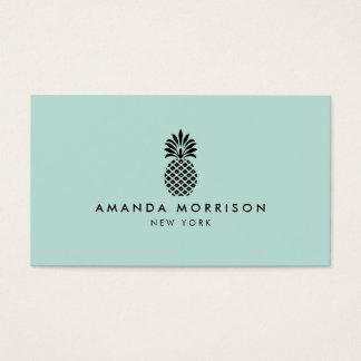 Elegant Pineapple Luxury Boutique Mint Business Card