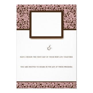 Elegant Pink And Brown Card