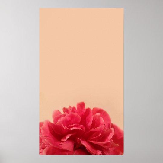 Elegant Pink and Cream Floral Art Poster