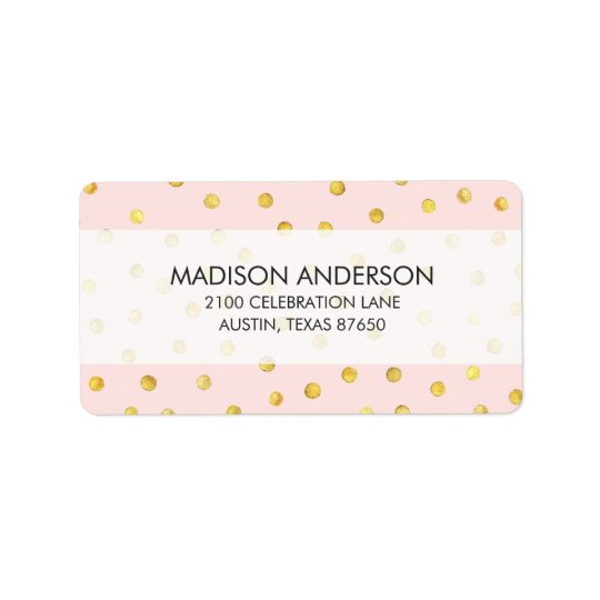 Elegant Pink And Gold Foil Confetti Dots Pattern