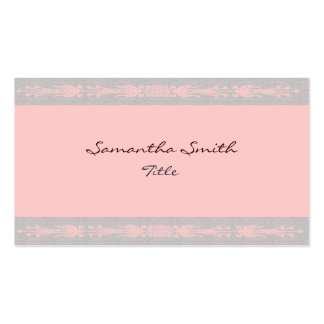 Elegant pink and gray Business card