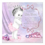 Elegant Pink and Purple Baby Shower Personalised Announcement