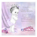 Elegant Pink and Purple Baby Shower Invitations