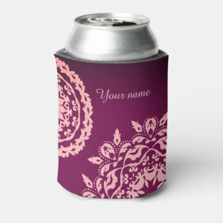 Elegant pink and purple can cooler