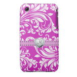 Elegant Pink and White Damask iPhone 3G Case iPhone 3 Covers