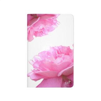 Elegant Pink Blooming Roses Floral Pocket Journal