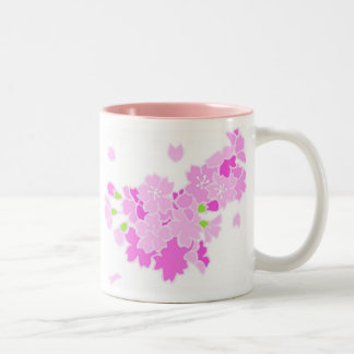 Elegant Pink Blossoms Mug