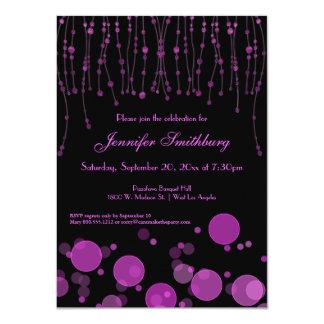 Elegant Pink Bokeh Lights Birthday Party Invite