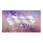 Elegant Pink Brown Purple Damask Swirl Business Card Templates