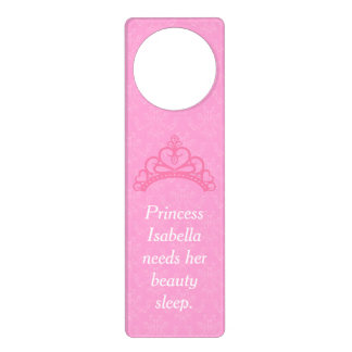Elegant Pink Damask, Princess Beauty Sleep Door Hanger