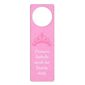 Elegant Pink Damask, Princess Beauty Sleep Door Hangers