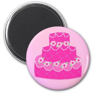 Elegant Pink Designer Cake Refrigerator Magnets