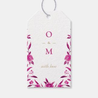Elegant pink floral Chinoiserie Wedding monogram