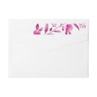Elegant pink floral Chinoiserie Wedding monogram Wrap Around Label