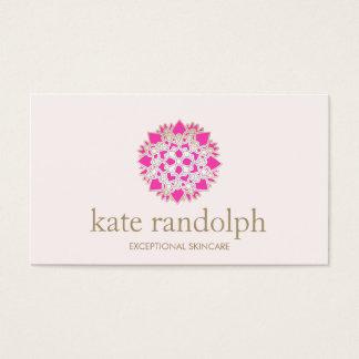 Elegant Pink Floral Mandala Beauty Salon and Spa