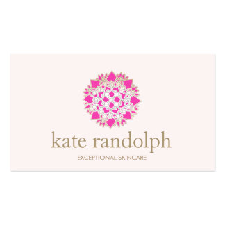 Elegant Pink Floral Mandala Beauty Salon and Spa Pack Of Standard Business Cards