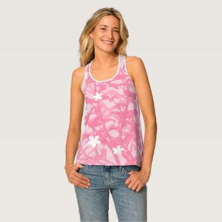 Elegant Pink Floral Tank Top