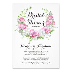 Elegant Pink Floral Watercolor Bridal Shower