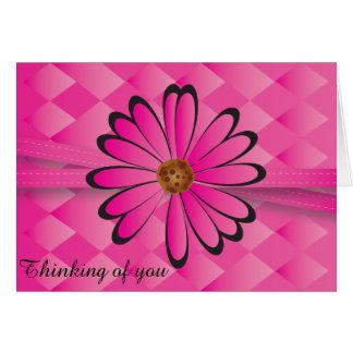 Elegant Pink Flower Design Card