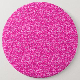 Elegant Pink Glitter 6 Cm Round Badge
