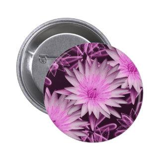 Elegant pink lillies - customizable buttons