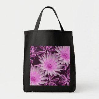Elegant pink lillies hold all tote bags