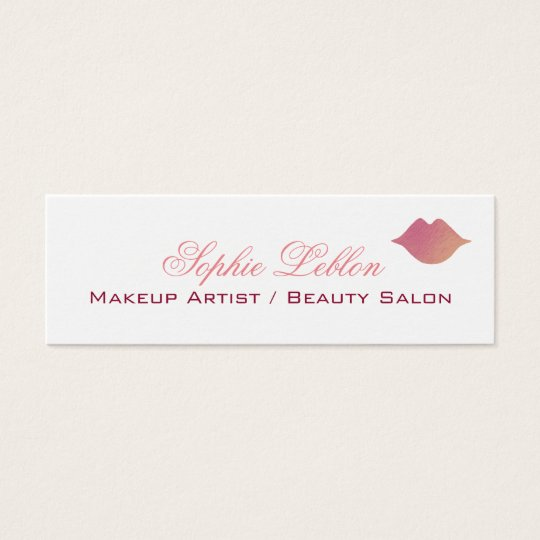 elegant pink lips profile card for makeup artists