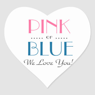Elegant Pink or Blue Gender Reveal Sticker