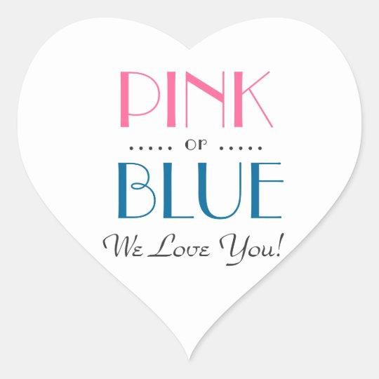 Elegant Pink or Blue Gender Reveal Sticker
