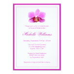 Elegant Pink Orchid Bridal Shower 13 Cm X 18 Cm Invitation Card