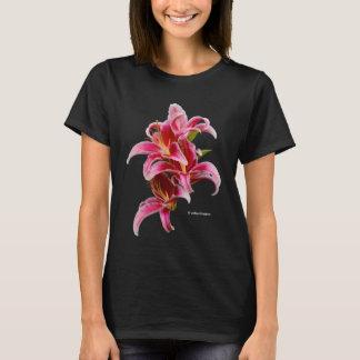 Elegant Pink Oriental Lilies T-Shirt