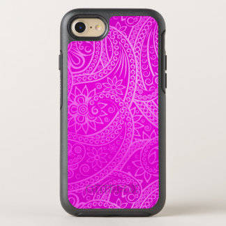 Elegant pink Paisley Pattern OtterBox Symmetry iPhone 8/7 Case