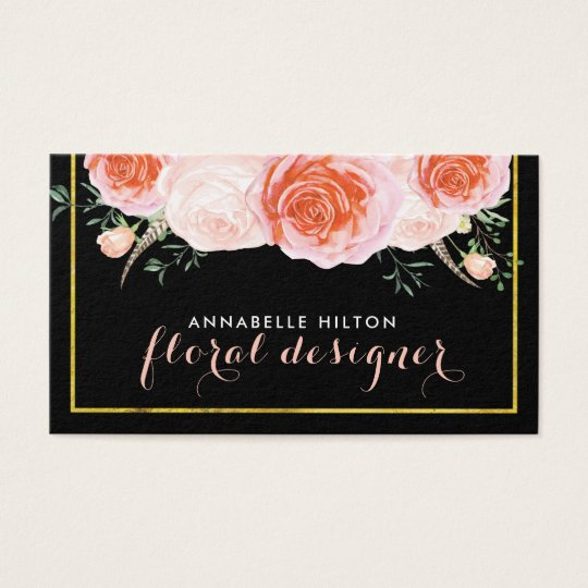 Elegant Pink, Peach and Coral Roses Website Cards